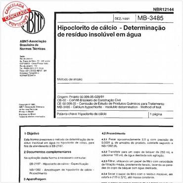 NBR12144 de 12/1991