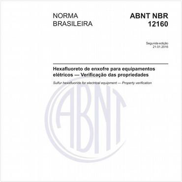 NBR12160 de 01/2016