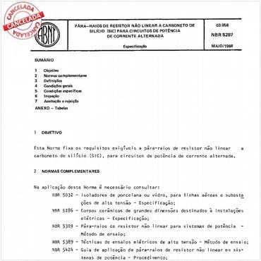 NBR5287 de 05/1988