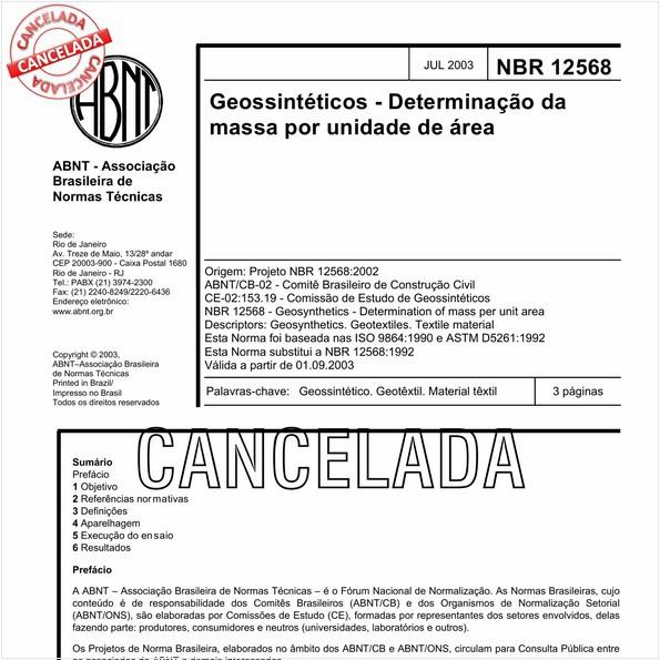 NBR12568 de 05/2013