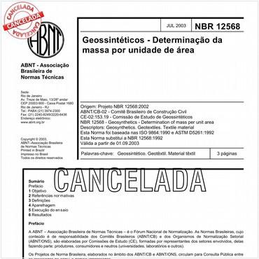 NBR12568 de 07/2003