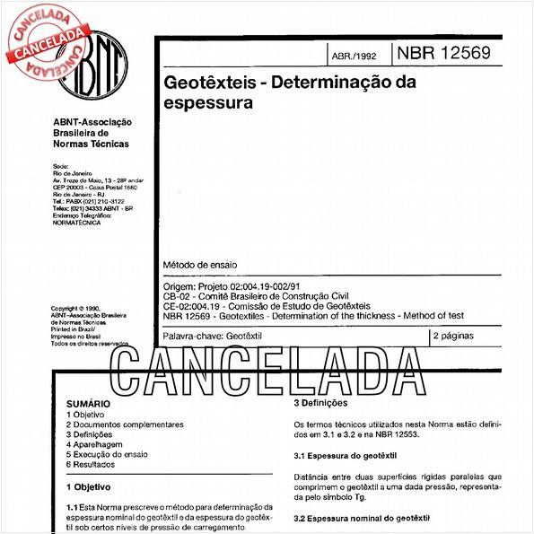 NBR12569 de 05/2013