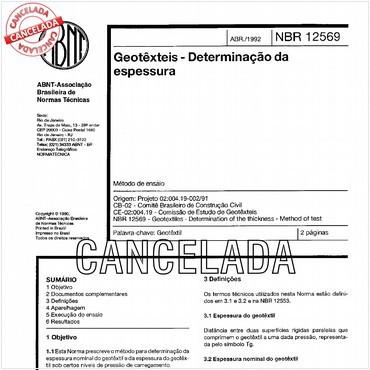 NBR12569 de 04/1992