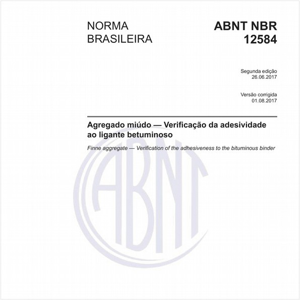 Agregado miúdo - Verificação da adesividade ao ligante betuminoso