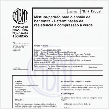 NBR12669 de 08/1992
