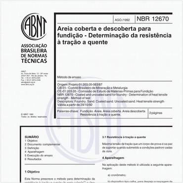 NBR12670 de 08/1992
