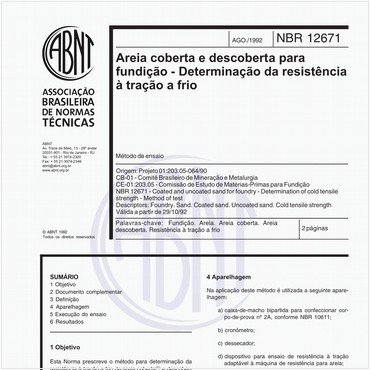 NBR12671 de 08/1992