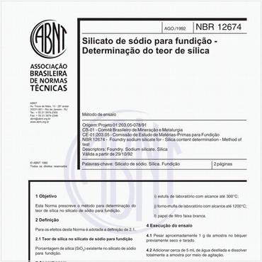 NBR12674 de 08/1992