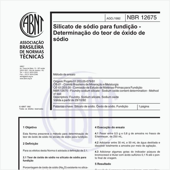 NBR12675 de 08/1992