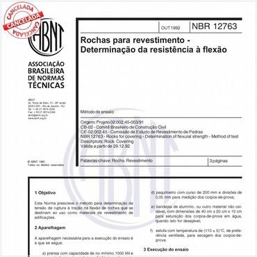 NBR12763 de 10/1992