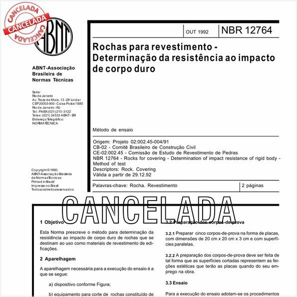 NBR12764 de 06/2010