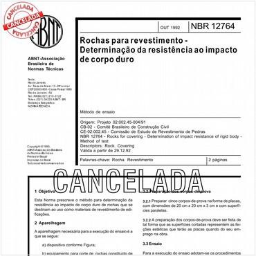 NBR12764 de 10/1992