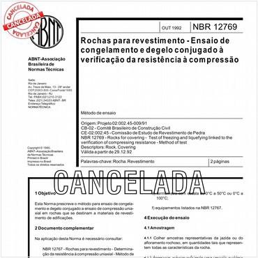 NBR12769 de 10/1992