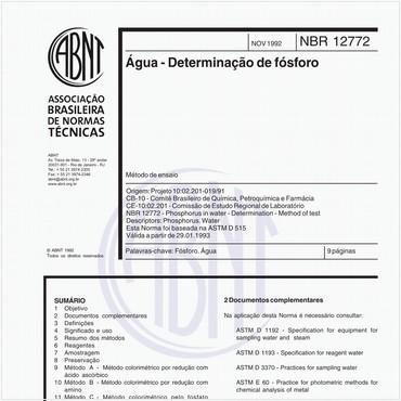 NBR12772 de 11/1992