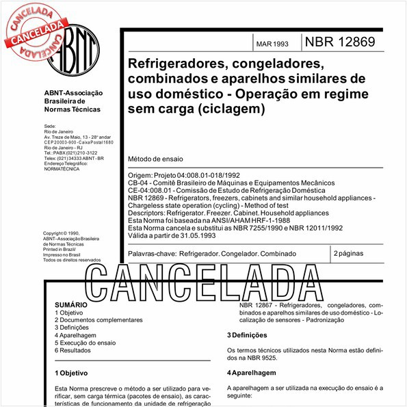 NBR12869 de 10/2012