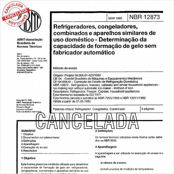 NBR12873 de 10/2012
