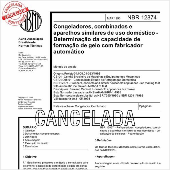 NBR12874 de 10/2012