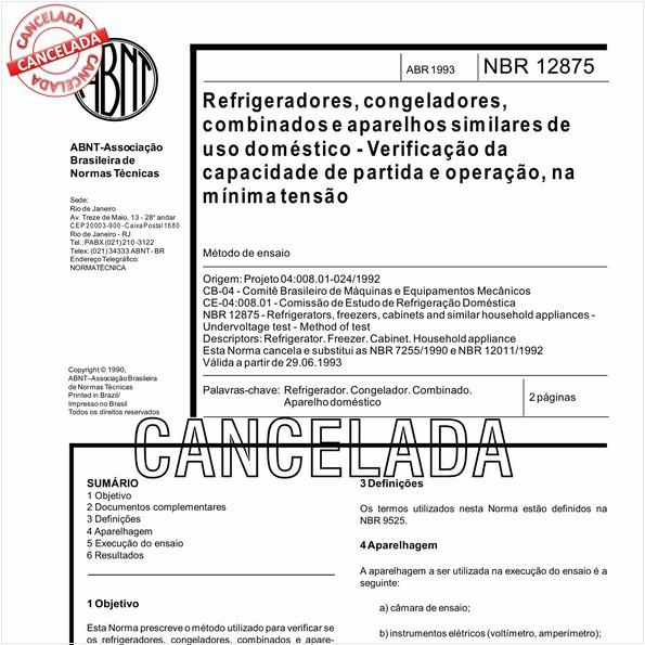 NBR12875 de 10/2012