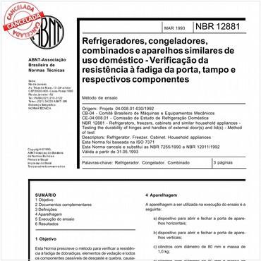 NBR12881 de 03/1993