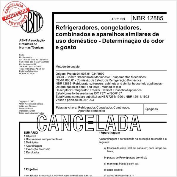 NBR12885 de 10/2012