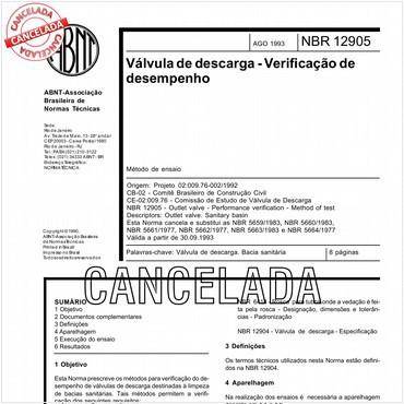 NBR12905 de 08/1993