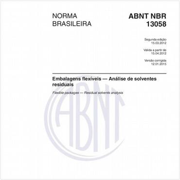 NBR13058 de 03/2012