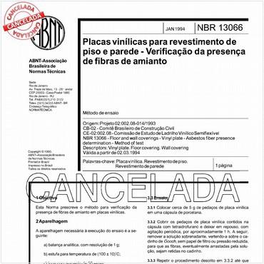 NBR13066 de 01/1994
