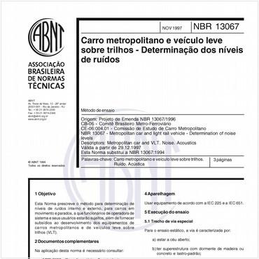 NBR13067 de 11/1997