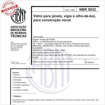 NBR5932 de 11/1989