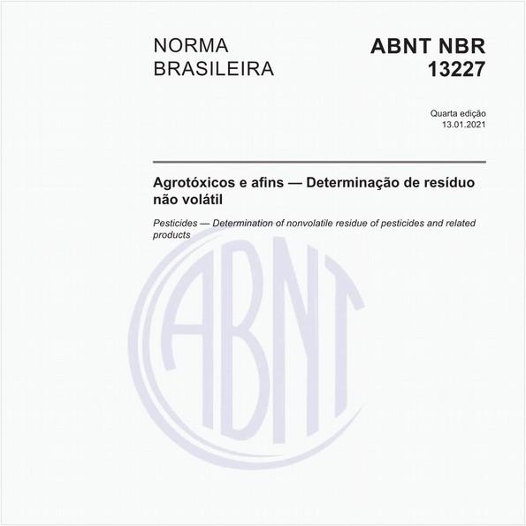 Agrotóxicos e afins - Determinação de resíduo não volátil