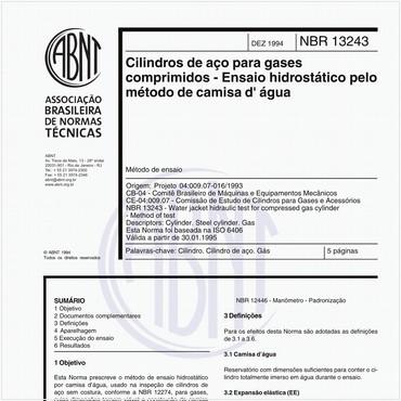NBR13243 de 12/1994