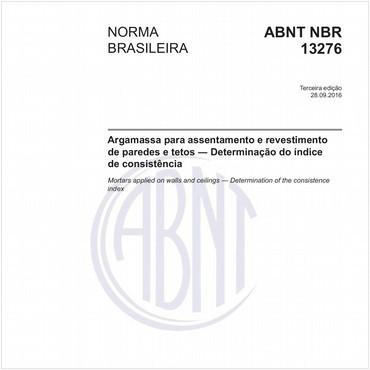 NBR13276 de 09/2016