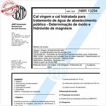 NBR13294 de 04/1995