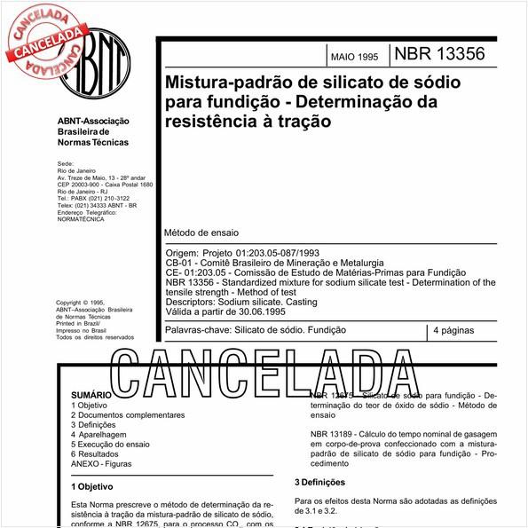 NBR13356 de 05/2011
