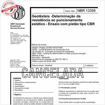 NBR13359 de 05/1995