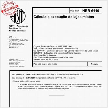 NBR6119 de 12/2001