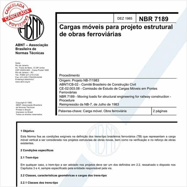 NBR7189 de 07/2015