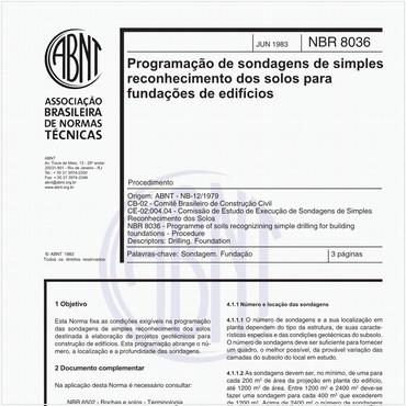 NBR8036 de 06/1983