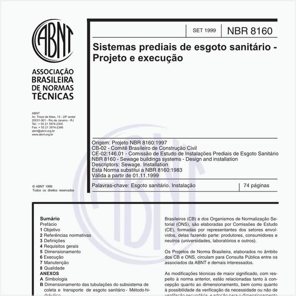 Sistemas prediais de esgoto sanitário - Projeto e execução