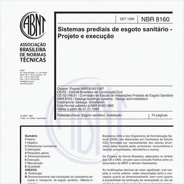NBR8160 de 09/1999