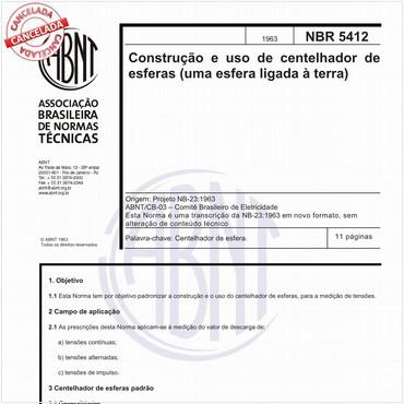 NBR5412 de 01/1963