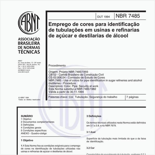 NBR7485 de 10/1994