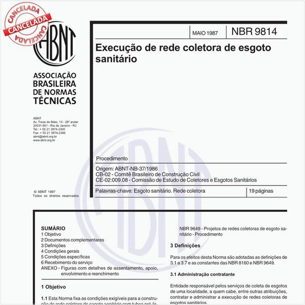 Execução de rede coletora de esgoto sanitário - Procedimento