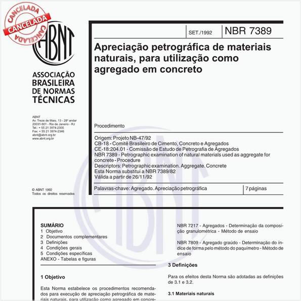 Apreciação petrográfica de materiais naturais, para utilização como agregado em concreto
