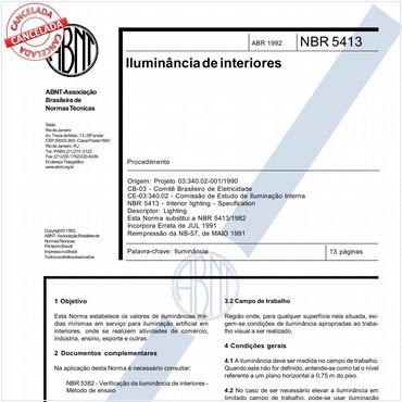NBR5413 de 04/1992