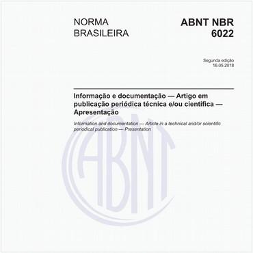 NBR6022 de 05/2018
