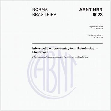 NBR6023 de 11/2018