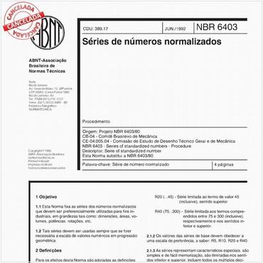 NBR6403 de 06/1992