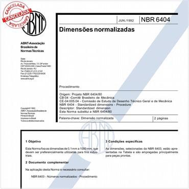 NBR6404 de 06/1992