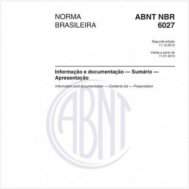 NBR6027 de 12/2012